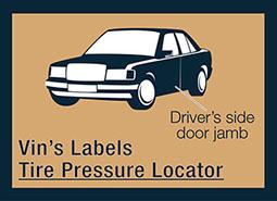 Tire Pressure Label Replacement-Auto Tire Pressure Sticker